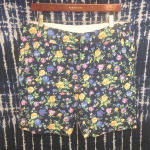 Euc Polo floral shorts Sz 33